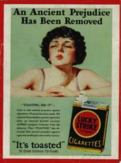 Печатна реклама на Лъки Страйк - за жени